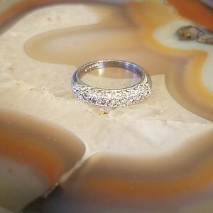 Vintage Silver pave CZ ring size 6, GUC